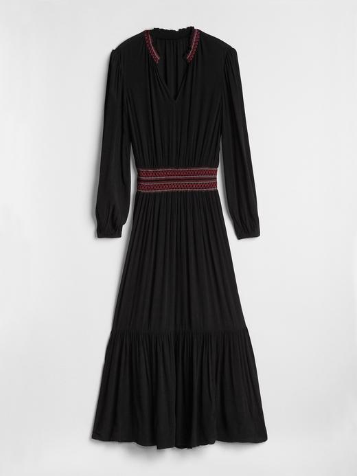 Uzun Kollu Maxi Elbise