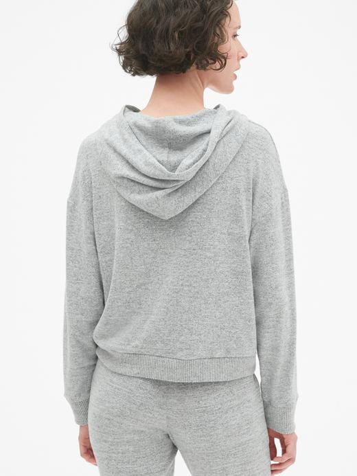 Softspun Kapüşonlu Kısa Sweatshirt