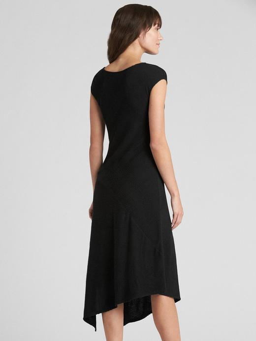 Softspun Asimetrik Kesim Midi Elbise