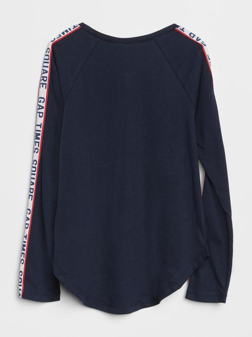 Logolu Baskılı Uzun Kollu T-Shirt
