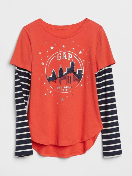 Uzun Kollu Baskılı T-Shirt
