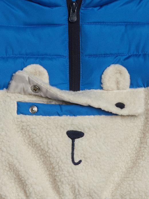 Baskılı Sherpa Ceket