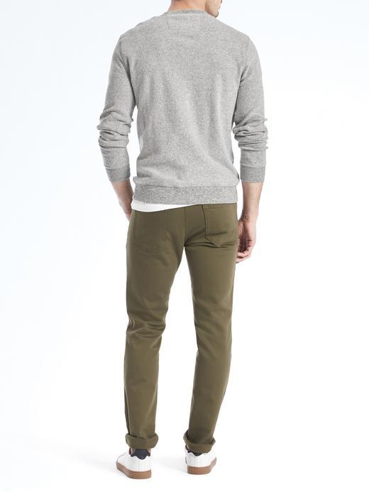 Erkek gri Sıfır Yaka Sweatshirt