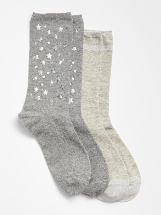 Kadın gümüş 2'li Çorap