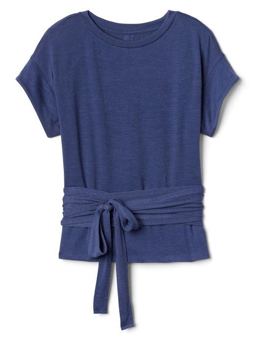 Softspun Kısa Kollu Bağcıklı Bluz