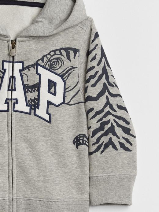 Logolu Baskılı Kapüşonlu Sweatshirt