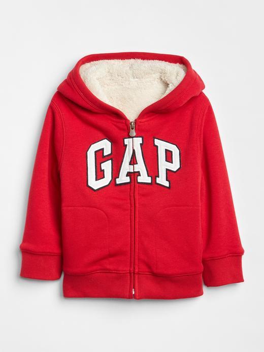 Gap Logo Yumuşak Dokulu Kapüşonlu Sweatshirt