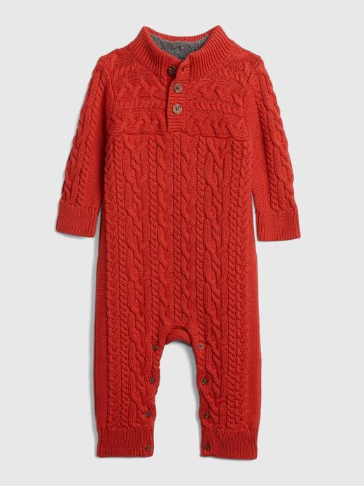 Bebek Kırmızı Örgü Tulum