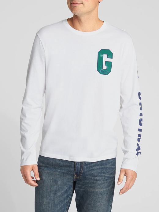 Logolu Uzun Kollu Jarse T-Shirt