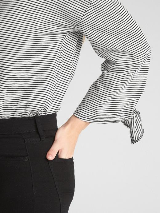 Çizgili Pamuklu T-Shirt