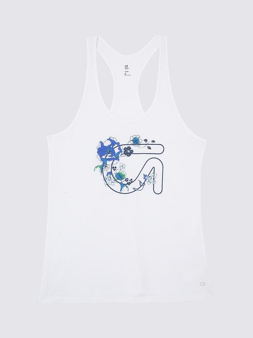Kadın çiçekli beyaz GapFit Desenli Atlet