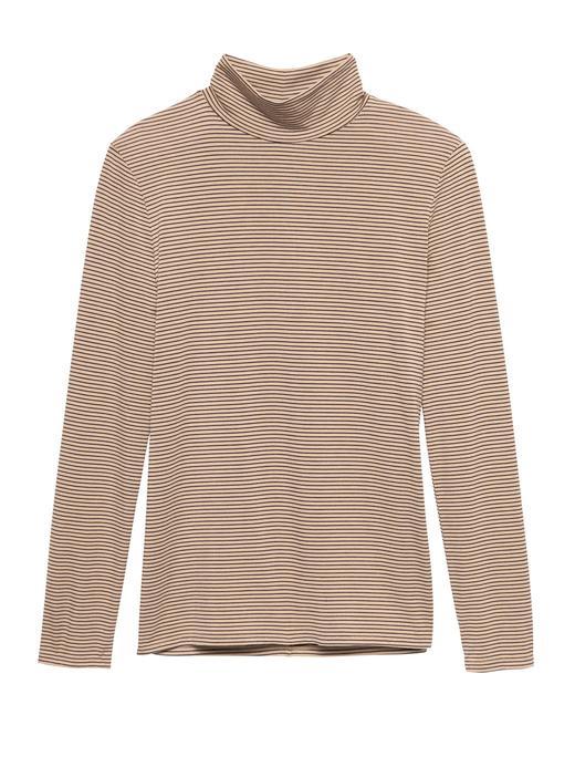 Kadın bej Threadsoft Hafif Kumaşlı Boğazlı T-Shirt