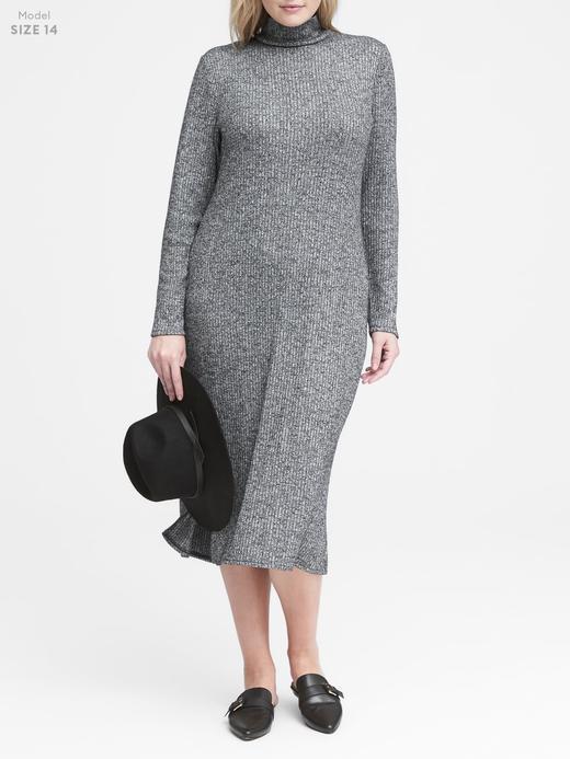 Luxespun Boğazlı T-Shirt Elbise