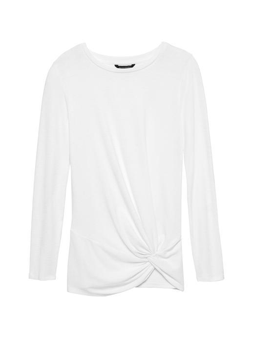 Luxespun Uzun Kollu Asimetrik T-Shirt
