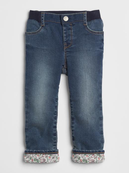 Desenlİ Astatlı Straight Jean Pantolon