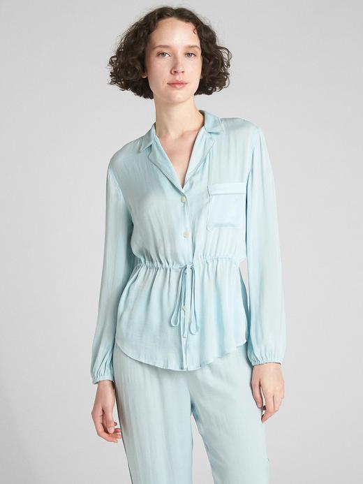 Dreamwell Uzun Kollu Saten Pijama Üstü