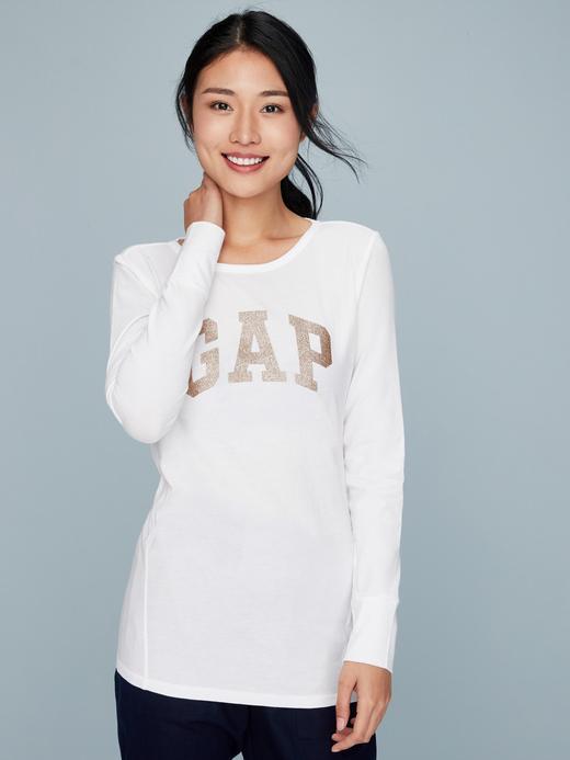 Gap Logo Uzun Kollu Sıfır Yaka T-Shirt