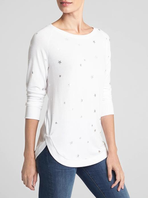 Softspun Reglan Kollu Baskılı T-Shirt