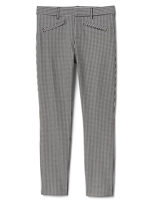 Orta Belli Desenli Skinny Pantolon