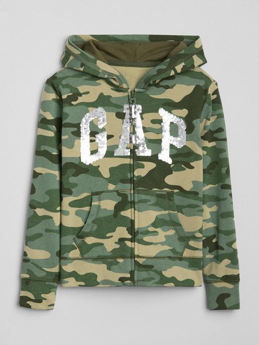 Pullu logolu kamuflaj desenli sweatshirt