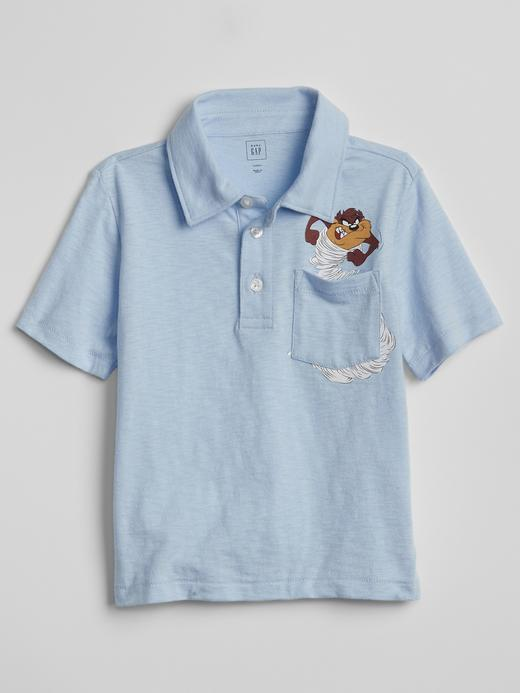 babyGap |  Warner Brothers Baskılı Polo Yaka T-Shirt