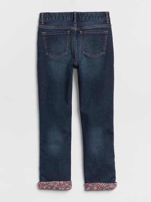 Superdenim Astarı Desenli Straight Jean Pantolon