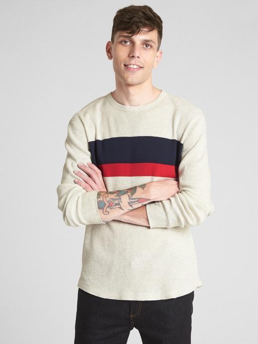 Uzun Kollu Çizgili Klasik T-Shirt
