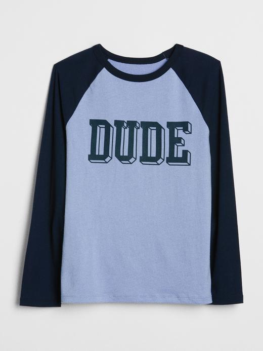 Baskılı Reglan Kollu T-Shirt