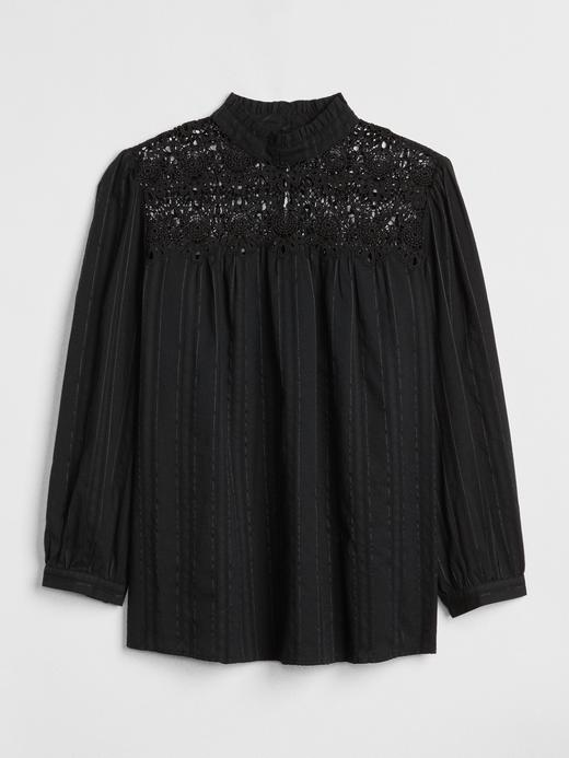Dantel Detaylı Uzun Kollu Bluz