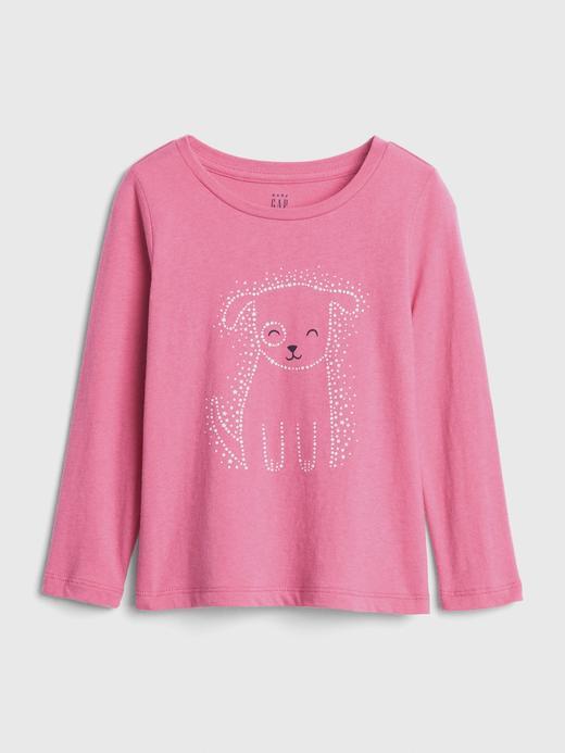 Bebek köpek desenli Baskılı Uzun Kollu T-Shirt