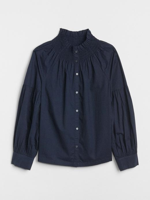 Uzun Kollu Poplin Bluz