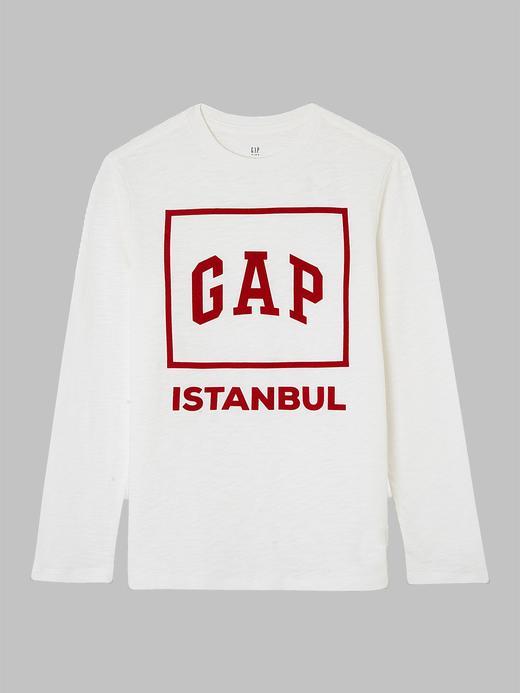 Uzun Kollu Logolu İstanbul T-Shirt