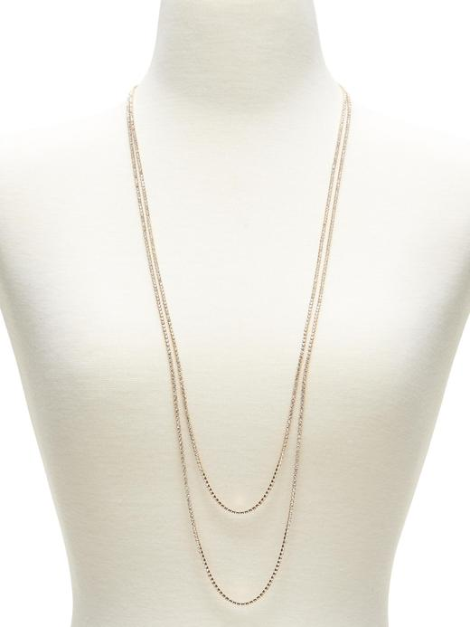 Kadın altın Taşlı klasik zincir kolye