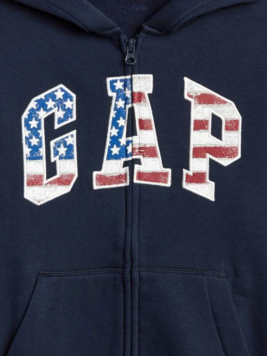 Americana Logolu Kapüşonlu Sweatshirt