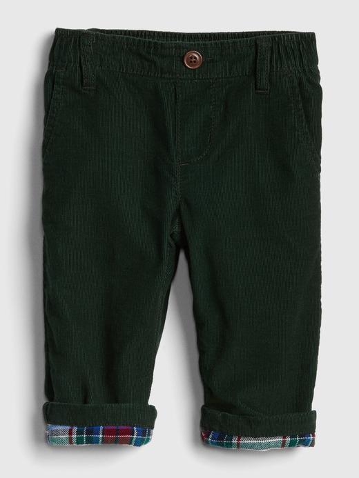 Bebek koyu yeşil Astarlı Pantolon