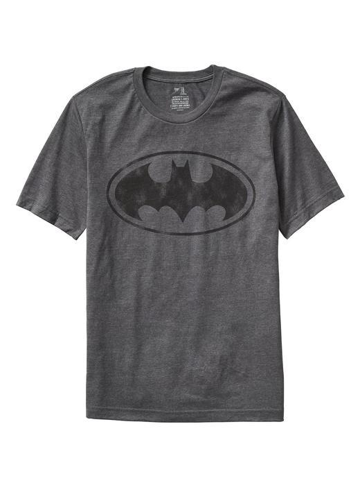 Erkek kırçıllı koyu gri Baskılı Kısa Kollu T-Shirt