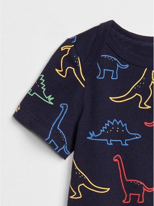 Dinozor Desenli Kısa Kollu Body