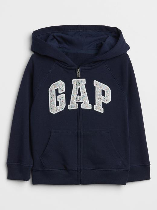 Kız Bebek Gap Logo Fermuarlı Sweatshirt
