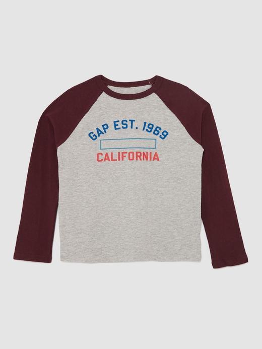 Logolu Uzun Reglan Kollu T-Shirt