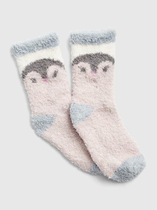 Bebek penguen desenli Desenli Yumuşak Dokulu Çorap