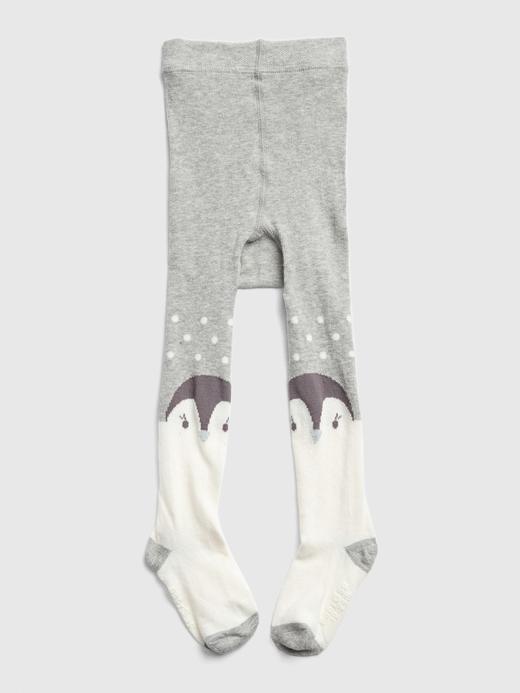 Penguen Desenli Külotlu Çorap