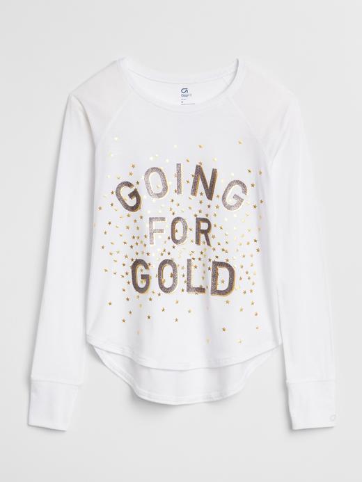 GapFit Kids Baskılı Uzun Kollu T-Shirt
