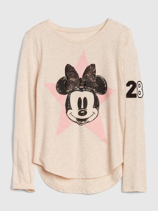 GapKids | Disney Mickey Mouse ve Minnie Mouse Değişen Pullu T-Shirt