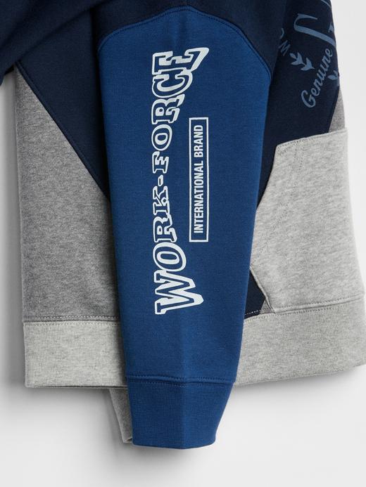 Logo Remix Kapüşonlu Sweatshirt