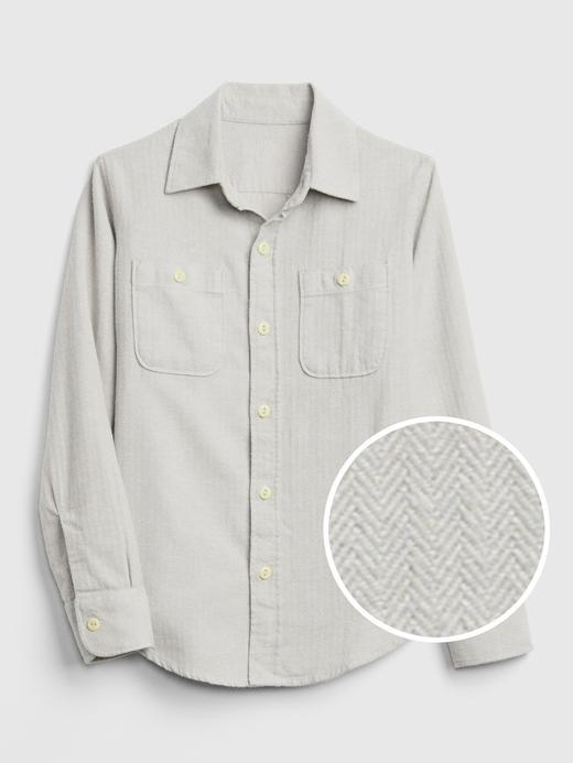 Erkek Çocuk açık gri Uzun Kollu Ekose Gömlek