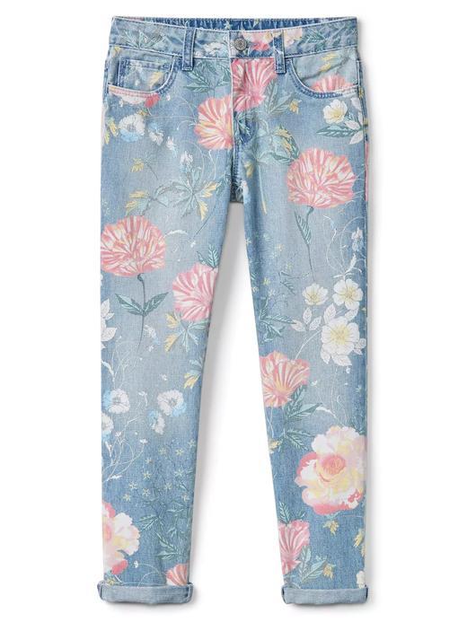 Girlfriend çiçek desenli jean pantolon