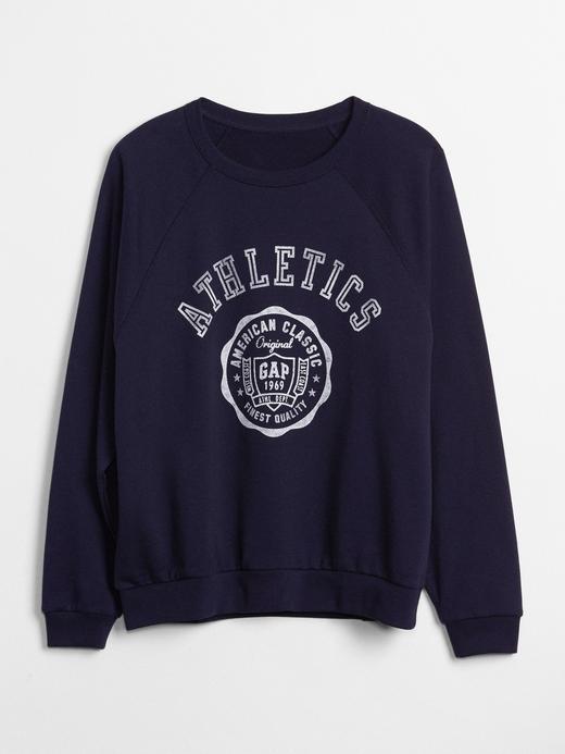 Vintage Logolu Baskılı Sweatshirt
