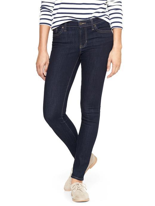 Kadın denim Orta Belli Jegging Jean Tayt Pantolon
