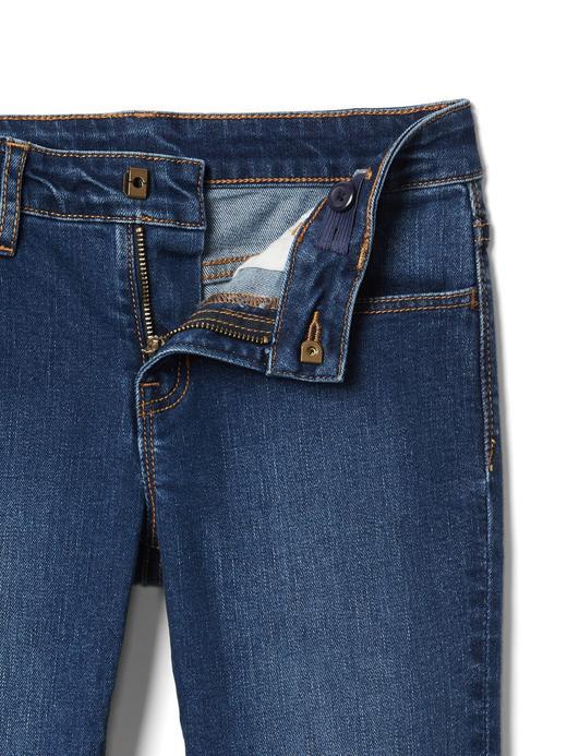 Kız Çocuk orta yıkama Streç straight jean pantolon