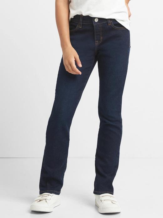 Streç düz paça jean pantolon